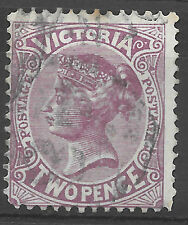 make an offer - victoria stamp 1884 2d mauve used