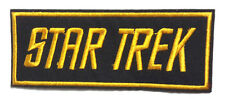 "Star Trek ""Gold Words"" Logo  4.5"" Embroidered Patch- FREE S&H (STPAT-55)"
