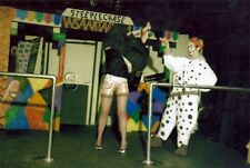 Org Amateur Semi Nude Large (10.25 x 7) Photo- Skirt- Clown- Funhouse- Stockings
