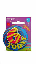 6 Today - 6th Birthday Party BADGE (5.5cm) (Gift/Craft/Card)(Boys/Girls) #81156