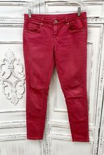 """BLANK NYC Size 28 Mid Rise Skinny Jeans Red 30"""" Waist 8.5"""" Rise 30"""" Inseam EUC"""