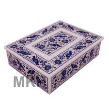 Handmade Marble Jewellery Box Trinket Vintage Inlay Art Jewelry Boxes Marquetry
