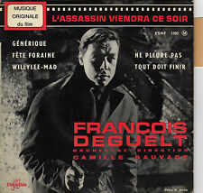 BOF L'ASSASSIN VIENDRA CE SOIR FRANCOIS DEGUELT / CAMILLE SAUVAGE FRENCH EP OST