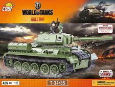 blocks Cobi Toy T 34/85 Tank 3005  World of Tanks  panzer Small Army bricks