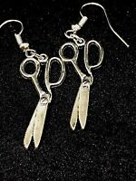 Realistic detail vintage Tibetan style scissors Earrings hairdresser Gift