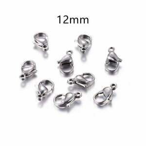 Wholesale 12 mm Stainless Steel Lobster Clasps Claw Hooks Jewelry Findings