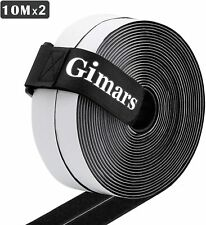 Self Adhesive Hook And Loop Strips Tape Roll Adhesive Strap 10m Long 20mm Wide