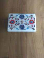 Italian White marble jewelry box