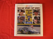 NASCAR SPRINT CUP SERIES 2012  HARD COVER YEAR BOOK WITH DJ
