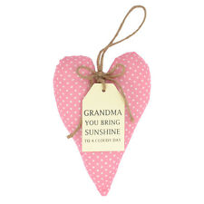 Special Grandma Sentiments From The Heart Hanging Cushion Lovely Gifts Range