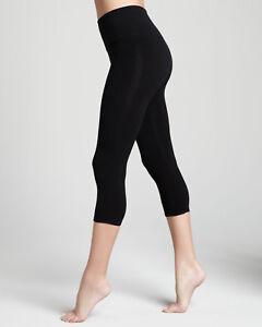 Ladies/Girls Cotton Lycra 3/4 Stretchy Lovely Soft Black Colour Crop Leggings