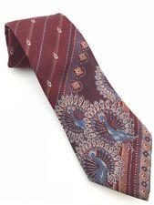 Hardy Amies Men's Tie with Peacock Pattern Silk London Savile Row
