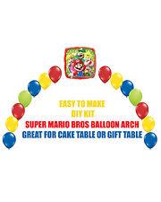 Super Mario Bros Birthday Party BALLOON ARCH for Cake Table Gift Table Sega