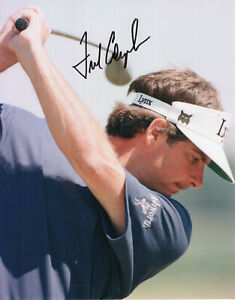 FRED COUPLES HAND SIGNED 8x10 COLOR PHOTO+COA        GREAT POSE     GREAT GOLFER