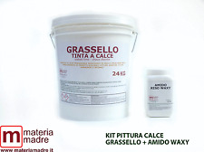 GRASSELLO DI CALCE KG 24  + AMIDO RISO WAXY + RICETTE PER PITTURA CALCE