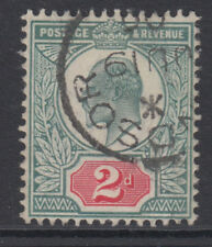 SG 227 2d  Grey Green & Scarlet Vermilion OCP M12 (-) VFU dated Windsor CDS .