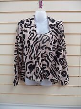 LADIES BLOUSE TOP ANIMAL PRINT KALEIDOSCOPE BNWT
