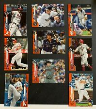 2020 Topps Factory Orange Parallel /99 Cards 1-200 SET BREAK
