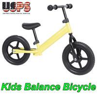 "12"" Balance Bike Kids Training Learn To Ride No-Pedal Bicycle Adjustable Seat"