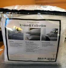 Charter Club 3 Piece White KING Comforter Cover Set Damask Designs. $250