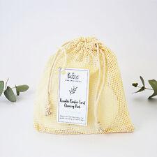 5pcs Reusable Washable Bamboo/Cotton Makeup Remover Pad Wipes w/ Cotton Bag