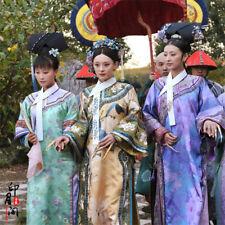 Chinese Women Long Dress Qing Dynasty Clothing Cosplay Zhen Huan Cheongsam Suit