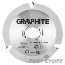 Hoja De Grafito Disco de corte para madera 125x22.2, Amoladora Disc (Gra 55H599)