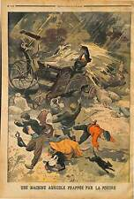 Foudre Lightning blast MACHINE A BATTRE PAYSANS BRETAGNE BREIZH BRASPARTS 1902