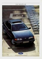 Ford Scorpio Prospekt 1987 7/87 Broschüre Autoprospekt brochure broschyr Auto