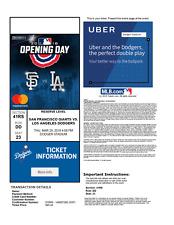 2018 Los Angeles Dodgers PDF tickets