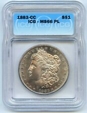 1883 CC Morgan Silver Dollar. ICG Graded MS 66PL (Proof-Like).  Lot #2715