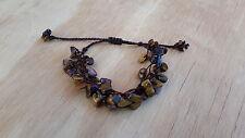 Handmade Woven Tiger Eye Stone Bracelet