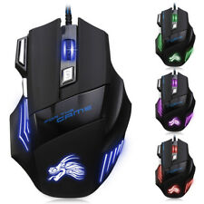 5500DPI 7 Button LED USB Optical Wired Gaming Mouse Mice for PC Laptop Gamer
