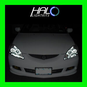 ORACLE CCFL White Headlight Halo Ring Kit 4 RINGS FOR 2005-2006 Acura RSX