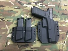 Black Kydex Holster for Glock 34 35 w/Mag Carrier