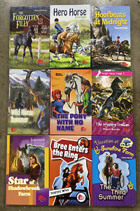Lot of 9 - PONY CLUB BOOKS Hardcover Child Pre Teen Horse Mystery Girls Set!
