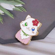 Pink Kitten Brooch Cartoon Brooch Jian New Lovely Cat Enamel Pin White Black