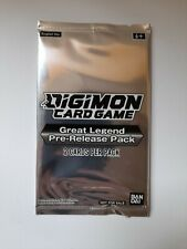 Digimon Great Legend Power Up Pack New And Sealed Rare