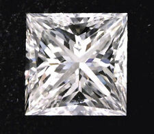 1.51 carat Princess cut Diamond GIA E color VS1 clarity no fl. Excellent loose
