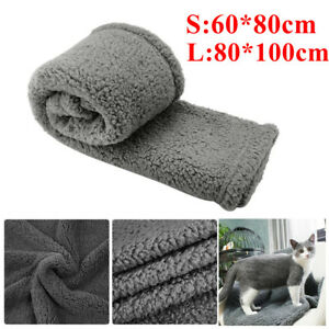 UK Warm Pet Mat Cat Dog Puppy Fleece Soft Blanket Throw Bed Cushion Extra Large