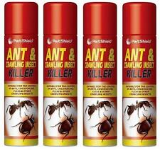 4 X 300ml Household Ants Killer Spray Ant & Crawling Flea Cockroach Insect Kill