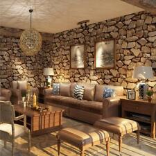 4x 10m 3D Retro Stone Rocks Wall Paper Wall Covering Murals Decals Thicker A