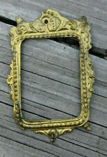 OLD VTG GERMAN? DOLLHOUSE MINIATURE ORMOLU GOLD METAL PICTURE PAINTING FRAME