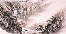 ORIENTAL ASIAN FINE ART CHINESE SANSUI WATERCOLOR PAINTING-Mountains&Landscape