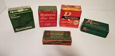 Lot of 5 Vintage (empty) Remington Ammo Boxes