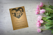 10 Personalised handmade Change of Address New Home House Moving Cards AC69