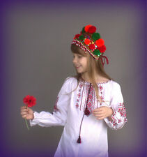 Ukraine diadem wreath Kokoshnic Hand beaded green orange Wedding heardress