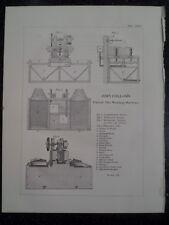 Central City Colorado Collom's Ore Washing Machine Mining Rare Engraving 1870