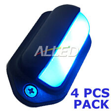 4X12V Waterproof LED Courtesy Light Blue Color Cabin/Car/Boat/Trailer/Stair Lamp