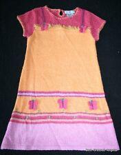 NWOT DEUX PAR DEUX Euro Boutique Butterfly Short Sleeve Sweater Dress Girl Sz 4